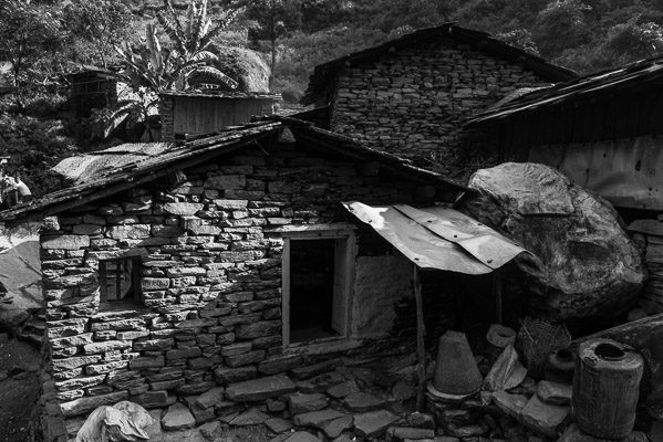 Locals take every advantage of native materials, Gorkha District
