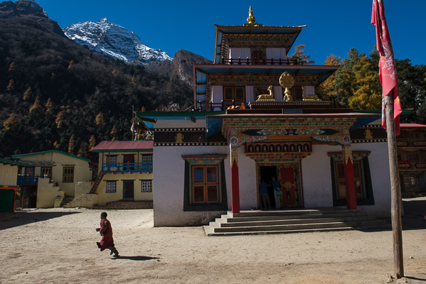 200 monks study at the Budhist monastery in Lho