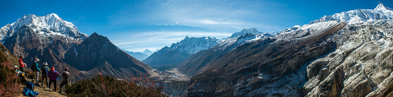 Looking South from the Manaslu Basecamp Trail, 14,000 ft.