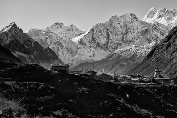 The village of Samdo, 12,600ft in the Nepalese Himalaya