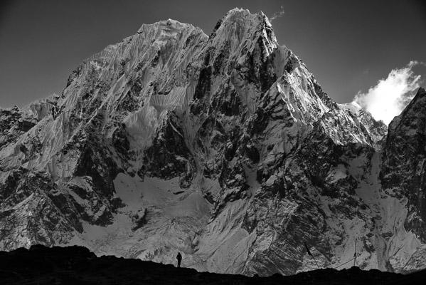 North Ridge of Phungi Himal from Bim Phedi. Scale is impossible